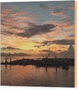 Tahiti Sunset Wood Print