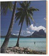 Tahiti View Wood Print
