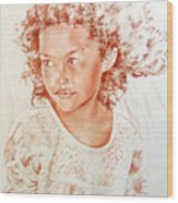 Tahitian Girl Wood Print