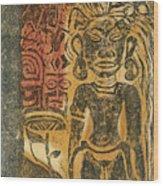 Tahitian Idol Wood Print