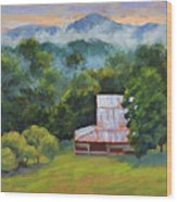 Tahlequah Ridge Morning Wood Print