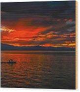Tahoe Boat Ride Wood Print