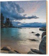 Tahoe Bursting Clouds Wood Print