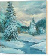 Tahoe Creek Wood Print