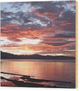 Tahoe June Sunset Wood Print