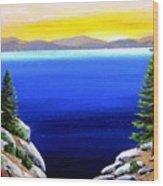Tahoe Morning Wood Print