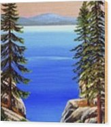 Tahoe Notch Wood Print