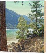 Tahoe Pines Wood Print