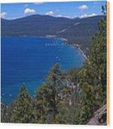 Tahoe Rim Trail Wood Print