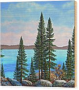 Tahoe Shore Wood Print