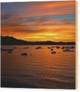 Tahoe Sunset Wood Print