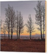 Tahoe Sunset Looking Southwest Wood Print