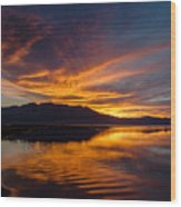 Tahoe Sunset Luminosity Wood Print