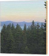 Tahome Sunrise Wood Print