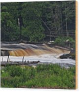 Tahquamenon Lower Falls Upper Peninsula Michigan 04 Wood Print