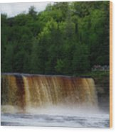 Tahquamenon Lower Falls Upper Peninsula Michigan 10 Wood Print