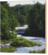 Tahquamenon Lower Falls Upper Peninsula Michigan 12 Wood Print