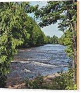 Tahquamenon River Wood Print