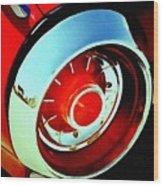 Tail Light American Car H B Wood Print