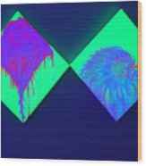 Tailed Flower And Kiwi Wood Print