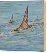 Tailin Bonefish Wood Print
