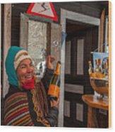 Taimi In Zermatt Switzerland Wood Print