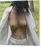 Taiwan University Nude Female Students Wood Print
