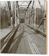 Taiya River Bridge #1 Wood Print