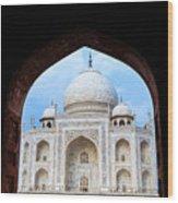 Taj Archway Wood Print
