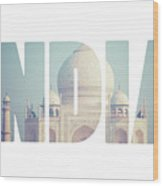 Taj Mahal , A Famous Historical Monument, A Monument Of Love, The Greatest White Marble Tomb In India, Agra, Uttar Pradesh  Wood Print