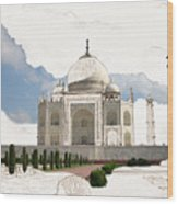 Taj Mahal Dreams Of India Wood Print