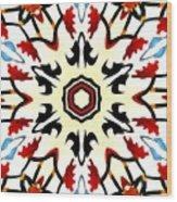 Taj Mahal Kaleidoscope Wood Print