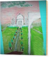 Taj Mahal Noon Wood Print