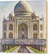 Taj Mahal - Paint Wood Print
