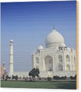 Taj Mahal View Wood Print