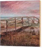 Take A Long Walk Into Dawn Wood Print