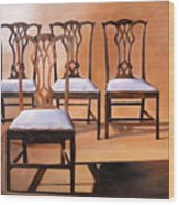 Take A Seat Wood Print by Denise H Cooperman