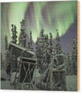 Take A Seat For The Aurora Custom 1x1 Wood Print