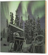 Take A Seat For The Aurora Wood Print