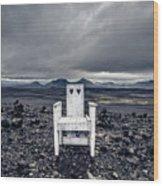 Take A Seat Iceland Wood Print