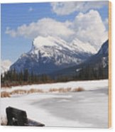Take A Seat At Vermillion Lake Wood Print