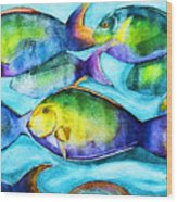 Take Care Of The Fish Wood Print
