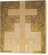 Take It To The Cross Silver Gold Wood Print