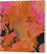 Take Three Floral Abstract Wood Print