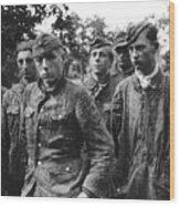 taken prisoner in Normandy Wood Print