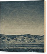 Taking The 5 Through Bakersfield, California Wood Print