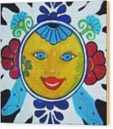 Talavera Sun Wood Print