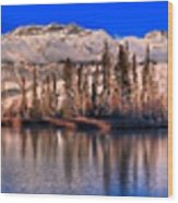 Talbot Lake Afternoon Panorama Wood Print