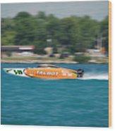 Talbot Offshore Racing Wood Print