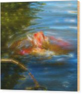 Tale Of The Wild Koi 2  Wood Print
